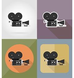 cinema flat icons 03 vector image vector image