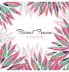 Floral frame background vector