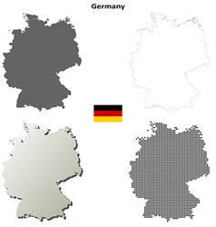 Germany outline map set vector