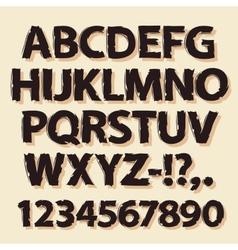 Ink Drawing Retro Alphabet Brown vector image vector image