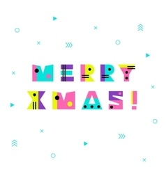 Merry Christmas Geometric Background vector image vector image