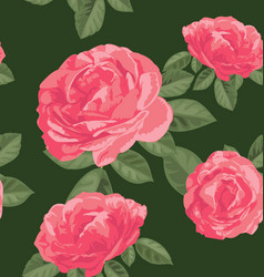 rose seamless pattern vector image vector image