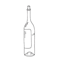 wine botle icon vector image vector image
