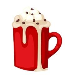 Cacao drink cup vector image