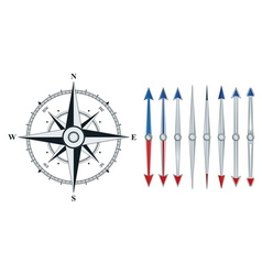 compass with similar arrows isolated vector image vector image