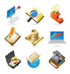 Icon concepts for business vector image vector image