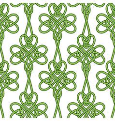 Seamless flower shamrock clover leaves vector image