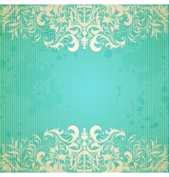 Vintage frame and grungy paper for design vector