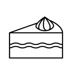 Cake outline icon vector image vector image