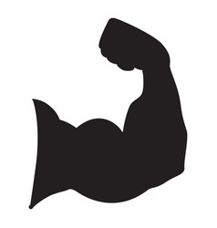 strong power silhouette of arm muscles vector image vector image