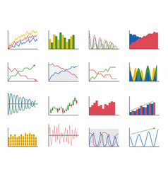 business data graph analytics elements bar pie vector image vector image