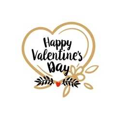 Happy Valentines Day greetings vector image vector image
