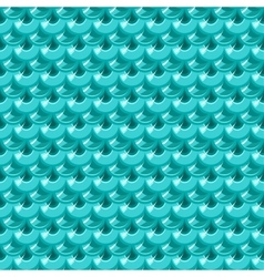 Seamless turquoise river fish scales vector image