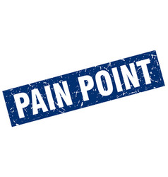 Square grunge blue pain point stamp vector