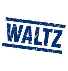 square grunge blue waltz stamp vector image vector image