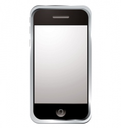 techno phone silver vector image vector image
