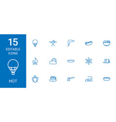 15 hot icons vector
