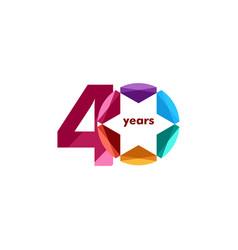 40 year anniversary diamond star template design vector