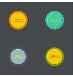 Abstract circles set vector