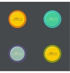 abstract circles set vector image