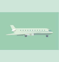 aircraft flying leaving trace vector image