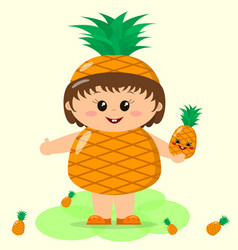 baby in a pineapple costume vector image