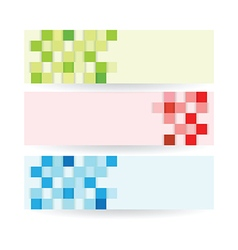 banners squares set vector image