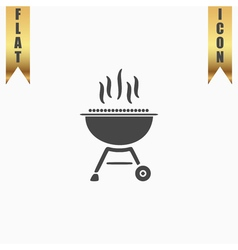 Barbecue grill menu icon vector