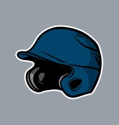 Baseball blue helmet logo icon asset vector