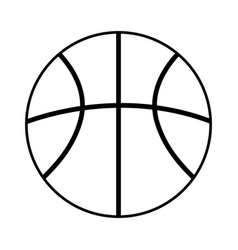 basketball ball outline icon vector image
