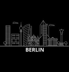 berlin silhouette skyline germany - berlin vector image