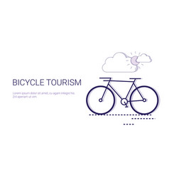 Bicycle tourism active travel adventure and vector
