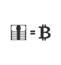bitcoin and dollar exchange business icon vector image