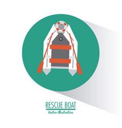 boat nautical transportation design vector image vector image