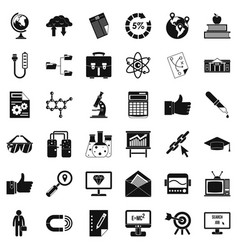 business analytics icons set cartoon style vector image