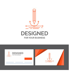 business logo template for design pen graphic vector image