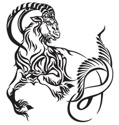 capricorn tribal tattoo vector image