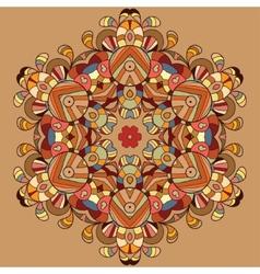 Circle lace organic ornament vector image