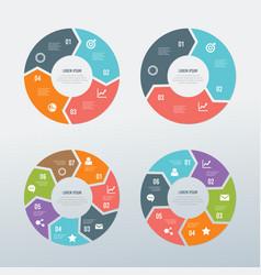 circular business infographic set vector image