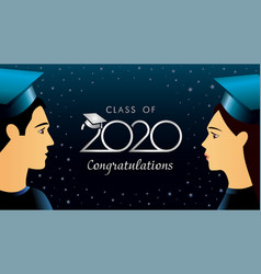 class 2020 ongratulations students vector image
