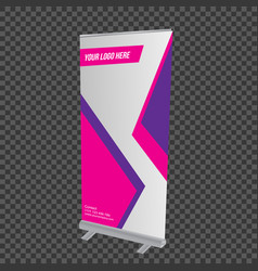 colorful roll up template vector image