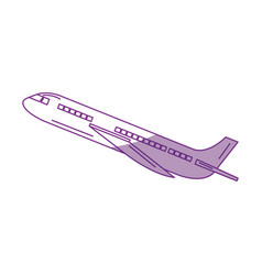 commercial airplane flying icon vector image