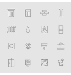 Construction and Development Line Style Icon Set vector