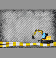 construction texture with yellow tape and vector image vector image