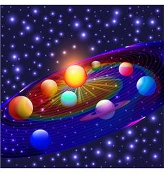 Cosmos planets vector