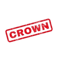 Crown Text Rubber Stamp vector image