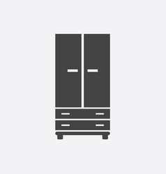 cupboard icon on white background modern flat vector image