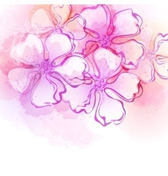 Decorative watercolor spring flower vector