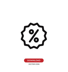 discount icon percentage symbol vector image