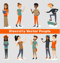 Diversity people of a group vector